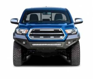 Exterior Accessories - Black Horse Off Road - B | Armour Heavy Duty Front Bumper Kit| Black | Includes 1 30in LED Light Bar, 2 sets of 4in cube lights | AFB-TU19-K1