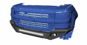 Black Horse Off Road - B | Armour Heavy Duty Front Bumper Kit| Black | Includes 1 30in LED Light Bar, 2 sets of 4in cube lights | AFB-TU19-K1 - Image 3