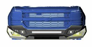 Black Horse Off Road - B | Armour Heavy Duty Front Bumper Kit| Black | Includes 1 20in LED Light Bar, 2 sets of 4in cube lights | AFB-SI18-K1 - Image 4