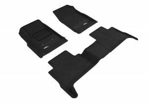 3D MAXpider - 3D MAXpider CHEVROLET COLORADO CREW CAB 2015-2020 ELEGANT BLACK R1 R2