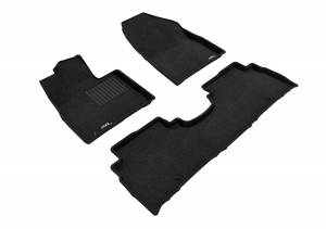 3D MAXpider - 3D MAXpider KIA SORENTO 5-SEAT 2016-2020 ELEGANT BLACK R1 R2