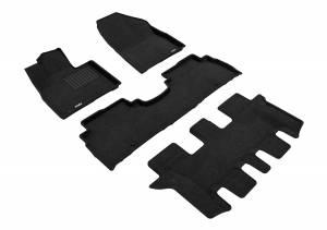 3D MAXpider - 3D MAXpider KIA SORENTO 7-SEAT 2016-2020 ELEGANT BLACK R1 R2 R3