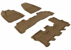 Interior Accessories - Floor Mat - 3D MAXpider - 3D MAXpider ACURA MDX 2007-2013 KAGU TAN R1 R2 R3