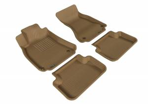 Interior Accessories - 3D MAXpider - 3D MAXpider AUDI A4/ S4/ RS4 2009-2016 KAGU TAN R1 R2