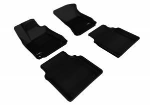 Interior Accessories - Floor Mat - 3D MAXpider - 3D MAXpider AUDI A8L 2011-2018 KAGU BLACK R1 R2