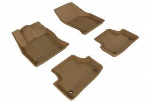 Interior Accessories - Floor Mat - 3D MAXpider - 3D MAXpider AUDI A3/ S3 SEDAN 2015-2020/ A3 SPORTBACK E-TRON 2016-2019/ RS3 2017-2020 KAGU TAN R1 R2
