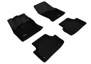 Interior Accessories - Floor Mat - 3D MAXpider - 3D MAXpider AUDI A3/ S3 SEDAN 2015-2020/ A3 SPORTBACK E-TRON 2016-2019/ RS3 2017-2020 KAGU BLACK R1 R2