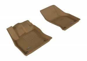 Interior Accessories - Floor Mat - 3D MAXpider - 3D MAXpider AUDI A3/ S3 2015-2020/ A3 SPORTBACK E-TRON 2016-2019/ RS3 2017-2020 KAGU TAN R1