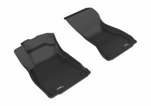 Interior Accessories - Floor Mat - 3D MAXpider - 3D MAXpider AUDI A4/ S4 2017-2020/ A5/ S5 2018-2019 KAGU BLACK R1