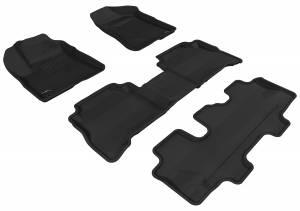 3D MAXpider - 3D MAXpider KIA SORENTO 7-SEATS 2011-2013 KAGU GRAY R1 R2 R3