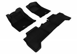 3D MAXpider - 3D MAXpider TOYOTA TACOMA DOUBLE CAB 2012-2015 KAGU BLACK R1 R2