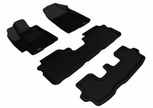 3D MAXpider - 3D MAXpider TOYOTA HIGHLANDER 2008-2013 GAS KAGU BLACK R1 R2 R3