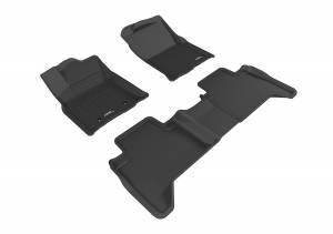 3D MAXpider - 3D MAXpider TOYOTA TACOMA DOUBLE CAB 2016-2017 KAGU BLACK R1 R2 (PASSENGER'S SIDE NO RETENTION)