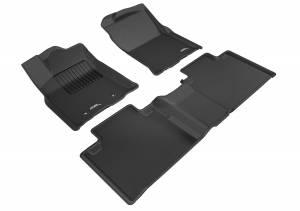 3D MAXpider - 3D MAXpider TOYOTA TACOMA ACCESS CAB 2016-2017 KAGU BLACK R1 R2 (R1 PASSENGER'S SIDE NO EYELET, R2 W/O SEAT)