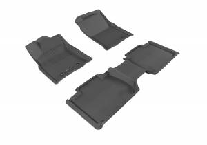 3D MAXpider - 3D MAXpider TOYOTA TACOMA ACCESS CAB 2016-2017 KAGU BLACK R1 R2 (R1 NO RETENTION IN PASSENGER'S SIDE, R2 WITH SEATS)