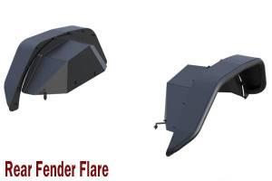 Products - Fender Flares - Black Horse Off Road - N | Tubular Rear Fender Flares| 2 Pieces| Black |TFFJL2