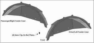 Products - Fender Flares - Black Horse Off Road - N | Tubular Rear Fender Liners |2 Pieces| Black |TFFJL4R