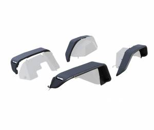 Black Horse Off Road - N   Full Set Tubular Fender Flares - Front & RearW/ LED Turn Light , Daytime Running Light and Side Marker  Black  TFRF20G - Image 6