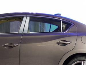 Acura ILX 2013-2021, 4-door, Sedan (6 piece Stainless Steel Pillar Post Trim  ) PP13206 QAA