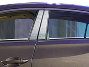 Acura ILX 2013-2021, 4-door, Sedan (4 piece Stainless Steel Pillar Post Trim  ) PP13205 QAA