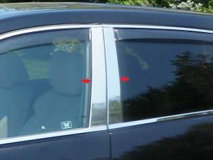 Acura MDX 2007-2013, 4-door, SUV (4 piece Stainless Steel Pillar Post Trim  ) PP27297 QAA