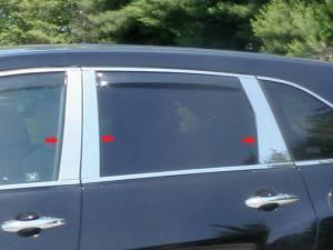 Acura MDX 2007-2013, 4-door, SUV (6 piece Stainless Steel Pillar Post Trim  ) PP27298 QAA