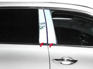 Acura MDX 2014-2020, 4-door, SUV (4 piece Stainless Steel Pillar Post Trim  ) PP14297 QAA