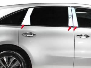 Acura MDX 2014-2020, 4-door, SUV (6 piece Stainless Steel Pillar Post Trim  ) PP14298 QAA