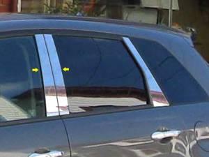 Acura RDX 2007-2012, 4-door, SUV (4 piece Stainless Steel Pillar Post Trim  ) PP27270 QAA