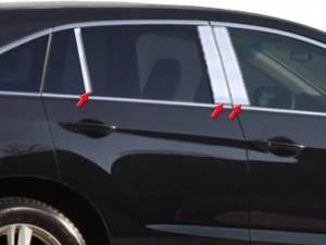 Acura RDX 2013-2018, 4-door, SUV (6 piece Stainless Steel Pillar Post Trim  ) PP13271 QAA