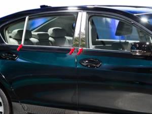 Acura RLX 2014-2020, 4-door, Sedan (6 piece Stainless Steel Pillar Post Trim  ) PP14201 QAA