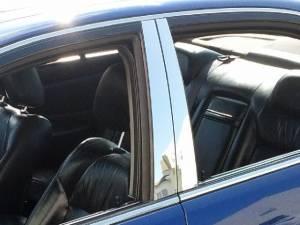 Acura TL 1999-2003, 4-door, Sedan (4 piece Stainless Steel Pillar Post Trim  ) PP22295 QAA