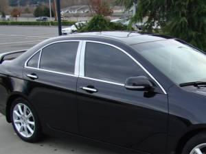Acura TSX 2006-2008, 4-door, Sedan (6 piece Stainless Steel Pillar Post Trim  ) PP26291 QAA