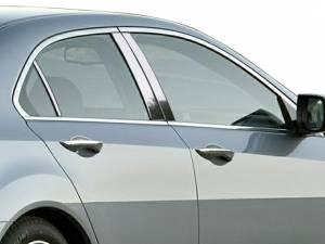 Acura TSX 2009-2014, 4-door, Sedan (6 piece Stainless Steel Pillar Post Trim  ) PP29291 QAA