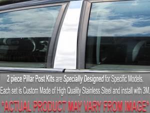 Audi A4 1996-2001, 4-door, Sedan (2 piece Stainless Steel Pillar Post Trim  ) PP96624 QAA