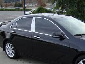 Acura TSX 2004-2008, 4-door, Sedan (4 piece Stainless Steel Pillar Post Trim  ) PP26290 QAA