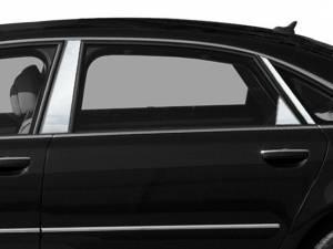 Audi A8 2004-2010, 4-door, Sedan (6 piece Stainless Steel Pillar Post Trim  ) PP24621 QAA