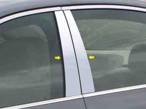 BMW 5 Series 2004-2010, 4-door, Sedan (4 piece Stainless Steel Pillar Post Trim  ) PP25930 QAA