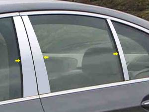 BMW 5 Series 2004-2010, 4-door, Sedan (6 piece Stainless Steel Pillar Post Trim  ) PP25931 QAA