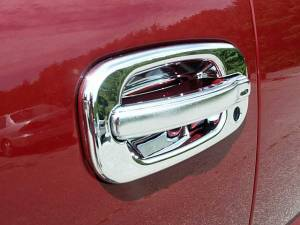 Cadillac Escalade 2002-2006, 4-door, SUV (8 piece Chrome Plated ABS plastic Door Handle Cover Kit Does not include passenger key access ) DH40198 QAA