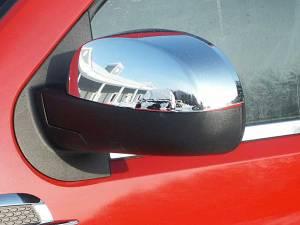 Cadillac Escalade 2007-2014, 4-door, SUV (2 piece Chrome Plated ABS plastic Mirror Cover Set Top Half only ) MC47195 QAA