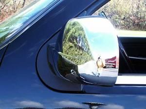 Cadillac Escalade 2007-2014, 4-door, SUV (2 piece Chrome Plated ABS plastic Mirror Cover Set Full ) MC47196 QAA