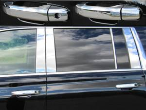 Cadillac Escalade 2015-2020, 4-door, SUV (8 piece Chrome Plated ABS plastic Door Handle Cover Kit Does not include passenger key access ) DH54195 QAA
