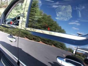 Chevrolet Avalanche 2007-2013, 4-door, Pickup Truck (4 piece Stainless Steel Window Sill Trim Set  ) WS47184 QAA