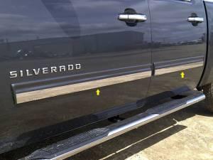 "Chevrolet Avalanche 2009-2013, 4-door, Pickup Truck, LT1 (4 piece Stainless Steel Rocker Panel Trim, Insert Kit 1.8125"" Width Side Molding.) TH49184 QAA"