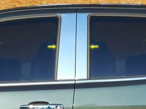 GMC Canyon 2015-2021, 4-door, Pickup Truck, Crew Cab (4 piece Stainless Steel Pillar Post Trim  ) PP55151 QAA