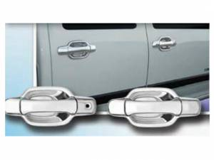 Chevrolet Colorado 2004-2012, 4-door, Pickup Truck (8 piece Chrome Plated ABS plastic Door Handle Cover Kit Includes passenger key access ) DH44151 QAA
