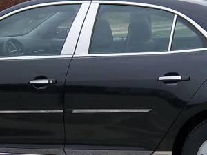 Chevrolet Malibu 2013-2015, 4-door, Sedan (4 piece Stainless Steel Door Handle Accent Trim  ) DH53105 QAA