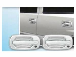 Chevrolet Silverado 1999-2005, 4-door, Pickup Truck (4 piece Chrome Plated ABS plastic Door Handle Cover Kit Does not include passenger key access ) DH39181 QAA