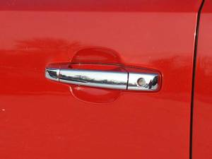 Chevrolet Silverado 2007-2013, 2-door, Pickup Truck, Regular Cab (6 piece Chrome Plated ABS plastic Door Handle Cover Kit Does not include passenger key access ) DH47181 QAA